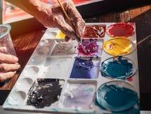 Kunstenaarskleuren royalty-vrije stock afbeelding