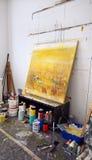 Kunstenaarss workshop Stock Afbeeldingen