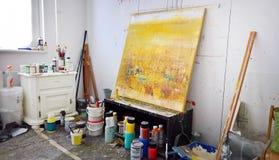 Kunstenaarss workshop Stock Foto's