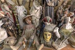 Kunstenaarsstudio, beeldhouwwerken en standbeelden royalty-vrije stock afbeeldingen