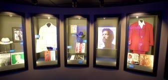 Kunstenaarsvertoning bij het Blauwhall of fame die Memphis, TN inbouwen royalty-vrije stock afbeeldingen