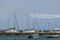 Kunstflug der allgemeinen Luft-Akademie und die Grundlage Infantedes Orleans in San Javier, Murcia Lizenzfreies Stockfoto