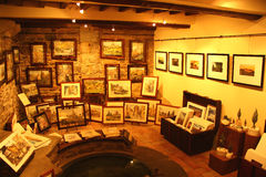 Kunstgalerie Stock Afbeelding