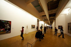 Kunstgalerie in der Pompidou-Mitte Stockbilder