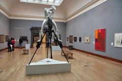 Kunstgaleriebezoekers stock afbeelding