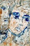 Kunstgesichter Lizenzfreies Stockbild