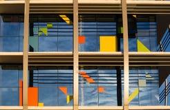 Kunstglasgebäude Stockbild