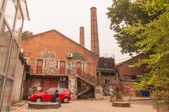 Kunstgraffiti in 798 straat, Peking op 25 Mei 2013 Royalty-vrije Stock Foto
