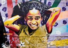 Kunstgraffiti in Valparaiso, Chili Royalty-vrije Stock Foto's