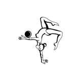 Kunstgymnastik mit Ball Lizenzfreies Stockfoto