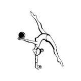 Kunstgymnastik mit Ball Stockbild