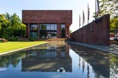 Kunsthalle som bygger bielefeld Tyskland royaltyfria bilder