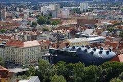 Kunsthaus Грац в Граце, Австрии, 2015 Стоковая Фотография RF