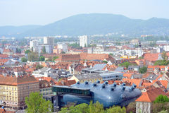 Kunsthaus in the City of Graz, Austria Royalty Free Stock Photography