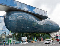 Kunsthaus, an exhibition center for contemporary art in Graz, Austria. Royalty Free Stock Photo
