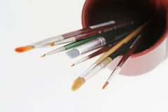 Kunsthilfsmittel - Pinsel lizenzfreies stockfoto