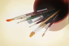 Kunsthilfsmittel - Pinsel Lizenzfreie Stockbilder