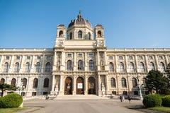 Kunsthistorisches museum (museum av Art History Or Museum av konster) i Wien Fotografering för Bildbyråer