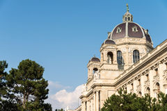 Kunsthistorisches museum (museum av Art History Or Museum av konster) i Wien Arkivbilder