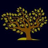 Kunstillustratie van de lente vertakte boom, gestileerd ecologiesymbool Royalty-vrije Stock Fotografie