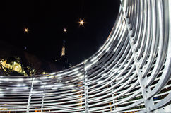 Kunstinstallation im Vereinigungs-Quadrat Melbourne Stockbild
