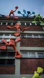 Kunstinstallation Medien-Hafen Roggendorf Haus Stockfotografie