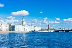 Kunstkamera building on embankment of Neva river Stock Photography