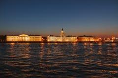 Kunstkamera and Neva river, Saint Petersburg Royalty Free Stock Photography