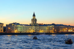 Kunstkamera and Neva river, Saint Petersburg Stock Photography