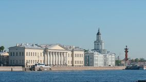 Kunstkamera and Neva river in the summer sunny day. St. Petersburg, Russia Royalty Free Stock Image