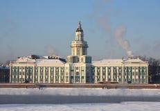 Kunstkamera in Saint-Petersburg. Kunstkamera of Universitetskaya embankment in Saint-Petersburg, Russia Stock Photos
