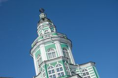 The Kunstkamera was the first museum founded. Tower in the center of the building close up stock photography