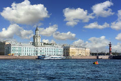 Kunstkammer博物馆在圣彼得堡,俄罗斯 免版税图库摄影