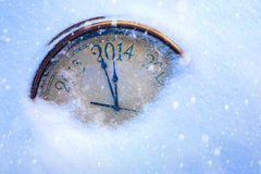 Kunstkerstmis en nieuwe jarenvooravond Stock Fotografie