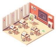 Kunstklassenzimmer des Vektors isometrisches Schul stockbild