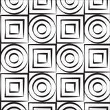 Kunstkreis und Quadratvektormuster vektor abbildung