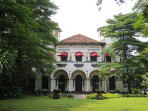 Kunstkring Art Gallery in Menteng, Jakarta. Kunstkring Art Gallery is a Dutch Colonial building Royalty Free Stock Photography