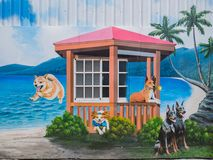 Kunstmalerei Zhongquan-Gemeinschafts 3D Stockfotografie