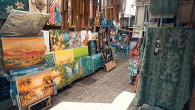 Kunstmarkt Sanur Bali stock video footage