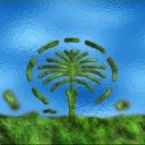 Kunstmatig de palmeiland van Doubai royalty-vrije stock fotografie