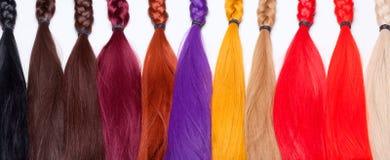 Kunstmatig die Haar voor Productie van Pruiken wordt gebruikt royalty-vrije stock afbeeldingen