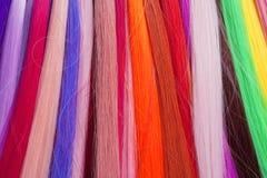 Kunstmatig die Haar voor Productie van Pruiken wordt gebruikt royalty-vrije stock foto's