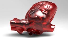Kunstmatig menselijk hart Stock Foto's