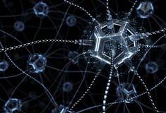 Kunstmatig Neuraal Netwerk royalty-vrije stock afbeelding