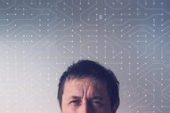 Kunstmatig neuraal netwerkconcept stock afbeelding
