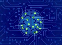 Kunstmatige intelligentie abstract concept als achtergrond vector illustratie