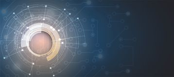 Kunstmatige intelligentie De achtergrond van het technologieweb Virtuele conc stock illustratie