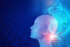 Kunstmatige intelligentie en geneeskundeconcept Stock Fotografie