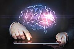 Kunstmatige intelligentie en technologieconcept Stock Fotografie