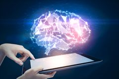 Kunstmatige intelligentie en wetenschapsconcept Royalty-vrije Stock Afbeeldingen